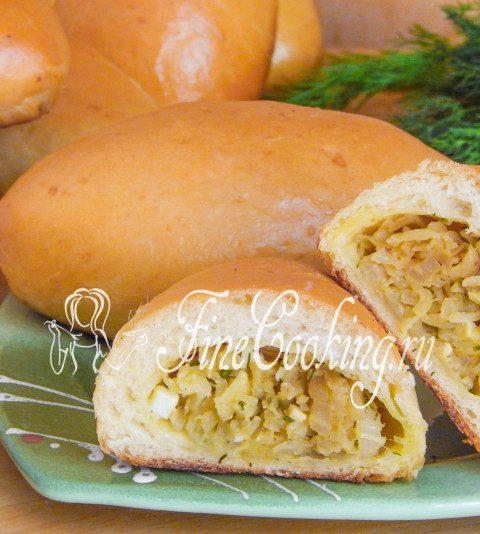 Пирожки с капустой на дрожжевом тесте в духовке – фото рецепт пошагово