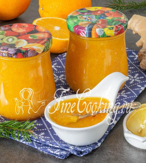 Апельсиновый джем с лимоном и имбирем - рецепт