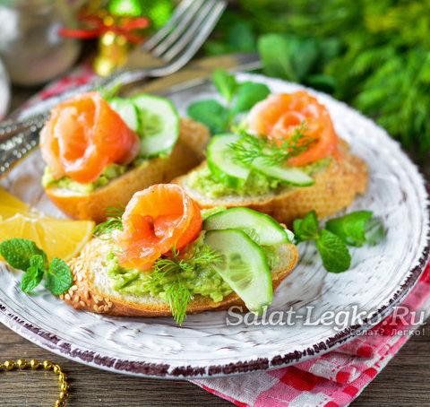 Бутерброды с авокадо и красной рыбой: рецепт с фото пошагово