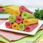 Разноцветные блинчики (с натуральными красителями)