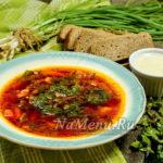 Борщ со свекольной ботвой – вкусный постный рецепт