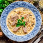 Говядина в грибном соусе из шампиньонов – изумительный вкус