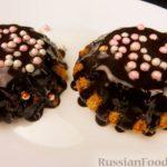 Кексы на майонезе, с шоколадной глазурью