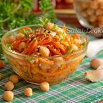 Салат с корейской морковкой и нутом, рецепт с фото пошагово