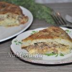 Картофельная запеканка с грибами и сыром – вкуснятина на сковороде