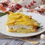 Картошка, запечённая с куриным филе (в микроволновке)