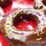 Пончики с шоколадной глазурью (из дрожжевого теста)