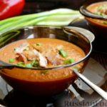 Суп-пюре из чечевицы с беконом