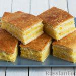 Дрожжевой пирог с апельсиново-лимонной начинкой