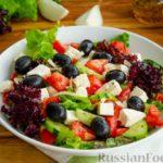 Греческий салат с медовой заправкой