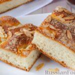 Немецкий масляный пирог (буттеркухен) с миндалём