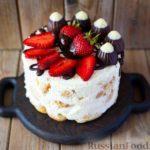 Торт из профитролей со сметанным кремом