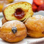 Воздушные пончики с начинкой