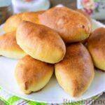Дрожжевые пирожки с картошкой и грибами (в духовке)