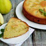 Яблочная шарлотка-перевёртыш на кефире