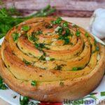 Чесночный хлеб «Улитка»