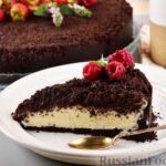 Сметанный торт с крошкой из печенья (без выпечки)
