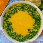 Суп-пюре из тыквы с цветной капустой и чесночной заправкой