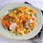 Запеканка с курицей, картошкой, тыквой и морковью