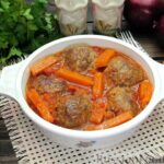 Мясные тефтели в томатно-тыквенным соусе