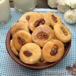 Банановое печенье с орехами