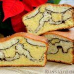 """Кекс """"Жираф"""" из двух видов бисквита с прослойкой какао-порошка"""