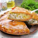 Пирог с куриным филе и картофелем