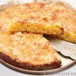 Сдобный сахарный пирог со сливочной пропиткой