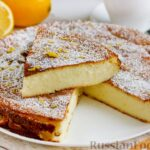 Творожно-манная запеканка с цедрой и соком лимона