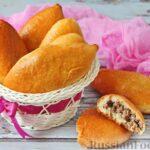 Дрожжевые пирожки на молоке и растительном масле, с говяжьим фаршем (в духовке)