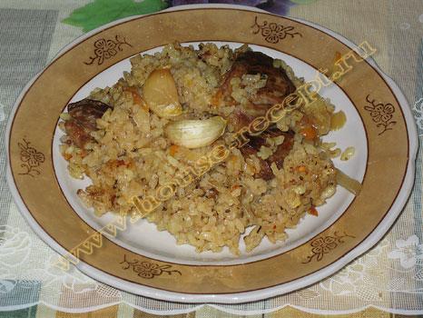 Вкусный плов со свининой – фото рецепт приготовления в казане пошагово