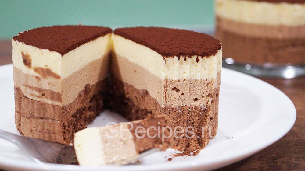 Торт мусс Три шоколада – пошаговый рецепт с фото в домашних условиях