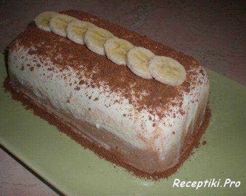 Вкусный десерт из творога с бананом и шоколадом – фото рецепт пошагово