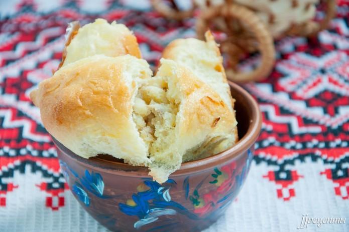 Пирожки с картошкой и печенью в духовке – пошаговый рецепт с фото