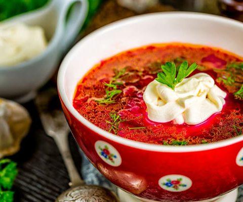 Борщ украинский со свининой – классический пошаговый рецепт с фото