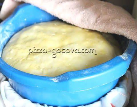 Быстрое дрожжевое тесто для пиццы на сухих дрожжах – рецепт с фото
