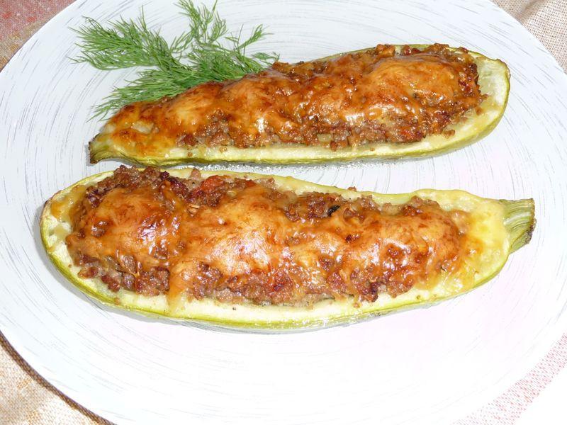 Закуска из фаршированных кабачков запеченных в духовке – рецепт с фото