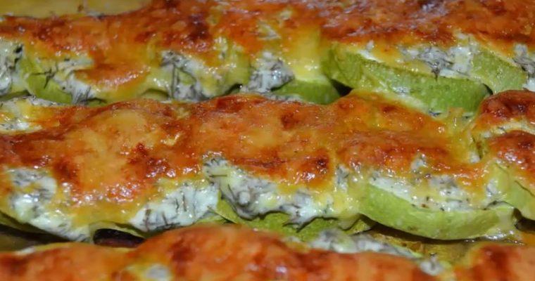 Вкусные кабачки с сыром в сметане в духовке – пошаговый рецепт с видео