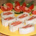 Как сделать рулет из лаваша с красной рыбой сыром и яйцом – рецепт