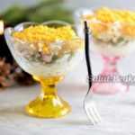 Вкусный слоеный салат из печени трески с яйцом – пошаговый рецепт