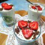 Быстрый творожный десерт с бананом и киви – рецепт с желатином