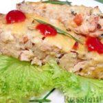 Макаронная запеканка с сыром и курицей в духовке — рецепт