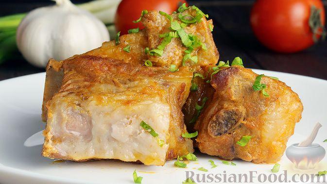 Как вкусно приготовить тушеные свиные ребрышки — рецепт