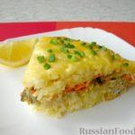 Рисовая запеканка с рыбой и овощами в духовке — рецепт